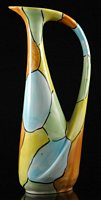 Patch glazed pitcher vase