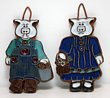 Victoria Ceramics Mr & Mrs Pig Trivet Tiles