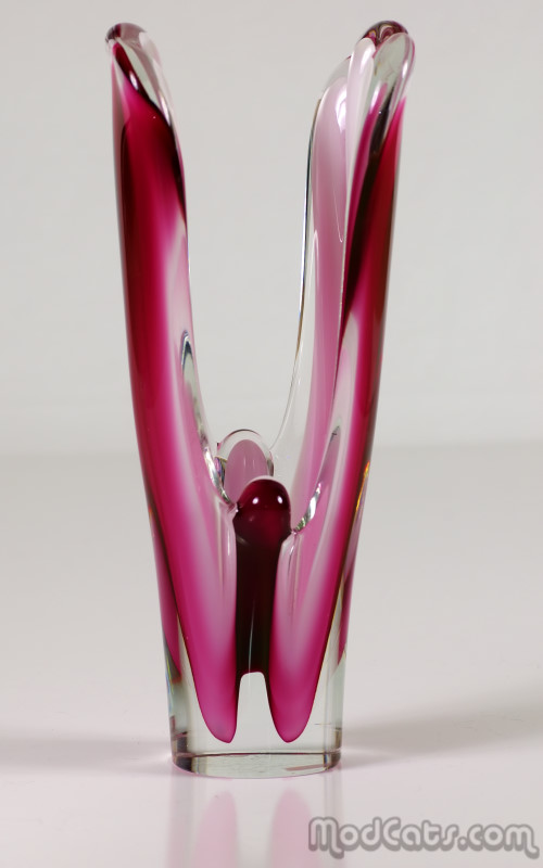 Flygsfors Coquille Butterfly Vase 1961