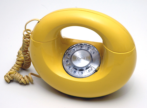 Vintage Yellow Sculptura Donut Phone