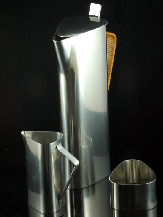 1960s Lundtofte Denmark Stainless Steel Coffee Set